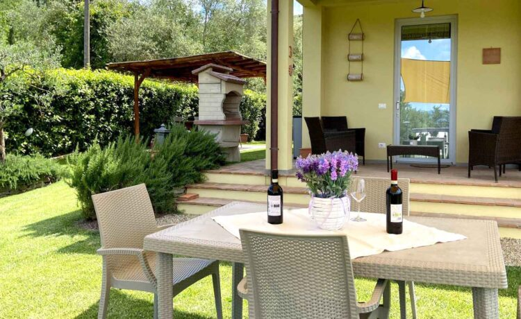 Casa di campagna Pianelli, l'esterno con piscina, vacanze in Toscana